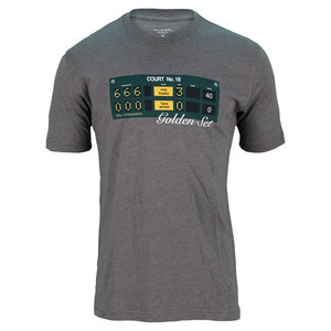 TRAVISMATHEW MENS GOLDEN SET TENNIS TEE HEATHER GRAY