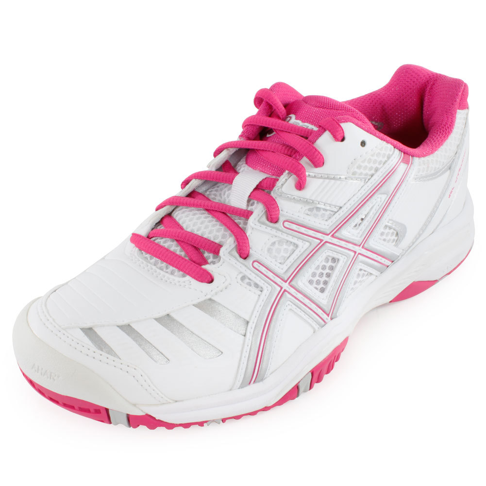 Women's Gel Challenger 9 Tennis Shoes White And Fuchsia