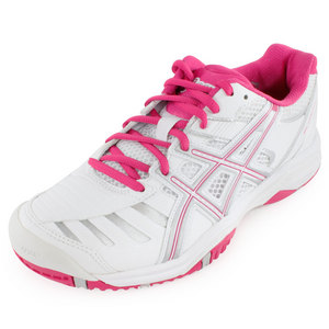 Women`s Gel Challenger 9 Tennis Shoes White and Fuchsia