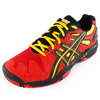 ASICS Men`s Gel Resolution 5 Tennis Shoes Red and Black