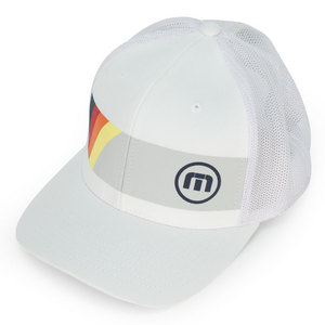 TRAVISMATHEW MENS TOPSPIN TENNIS CAP WHITE