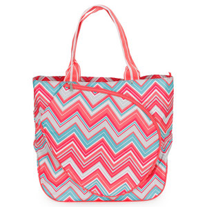 ALL FOR COLOR SUNSET CHEVRON TENNIS TOTE