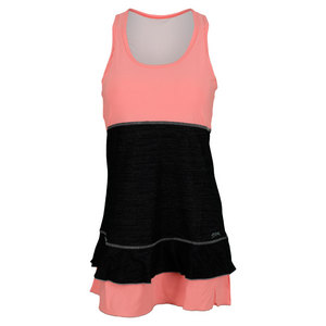 SOFIBELLA WOMENS FULL BACK TANK DRESS SORB/S PRT
