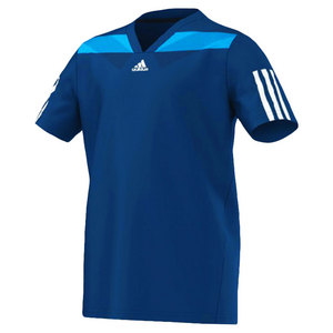 adidas BOYS ADIPR BARRICD SEMI FIT TEE TRIBE BL