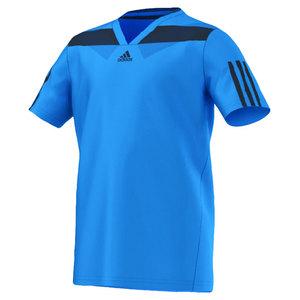 adidas BOYS ADIPOWER BARRICADE TEE SOLAR BLUE