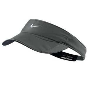 NIKE WOMENS FEATHERLIGHT VISOR DK BASE GRAY