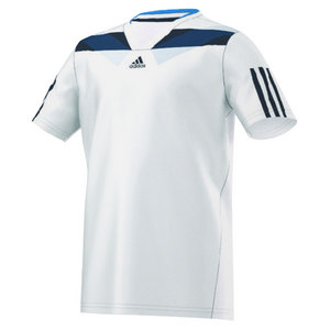 adidas BOYS ADIPOWER BARRICADE TEE WHITE
