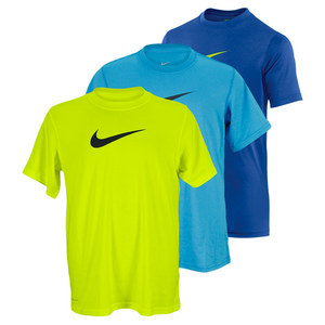 NIKE BOYS LEGEND SHORT SLEEVE TRAINING TOP
