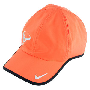 NIKE MENS RAFA BULL LOGO CAP TURF ORANGE