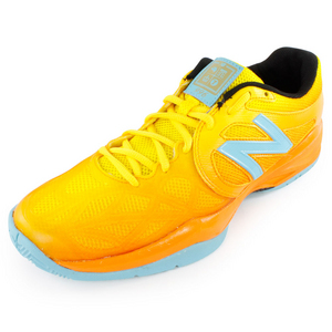 Juniors` Australian Open 996 Tennis Shoes Orange and Blue