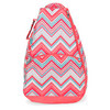 Sunset Chevron Tennis Backpack by ALL FOR COLOR