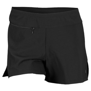 ELIZA AUDLEY WOMENS BASIC SLIT TENNIS SHORT BLACK/WH