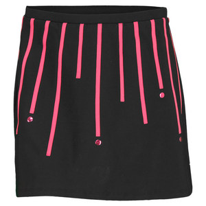 ELIZA AUDLEY WOMENS DOTS THE POINT TENNIS SKORT BK/PK