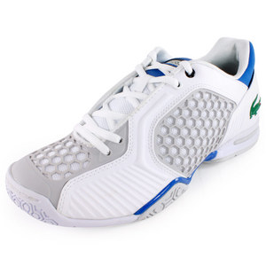LACOSTE MENS REPEL 2 TENNIS SHOES WHITE/BLUE