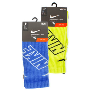NIKE BOYS 3 PACK GRAPHIC CUSHIONED CREW SOCKS