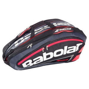 BABOLAT TEAM 12 PACK RACQUET HOLDER BRIGHT RED