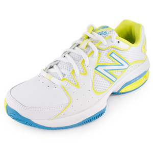 NEW BALANCE WOMENS 786 B WIDTH TENNIS SHOES WHITE/YL