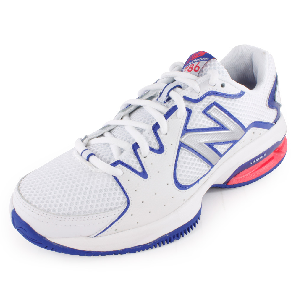 Women's 786 2a Width Tennis Shoes White And Pink