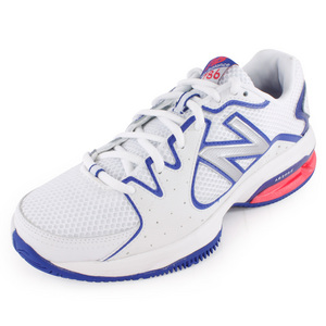 NEW BALANCE WOMENS 786 2A WIDTH TENNIS SHOES WHITE/P
