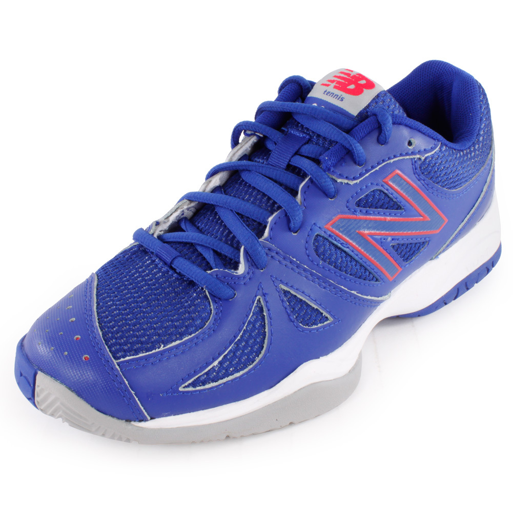 Women's 696 B Width Tennis Shoes Blue And Pink