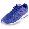 Women`s 696 B Width Tennis Shoes Blue and Pink by NEW BALANCE