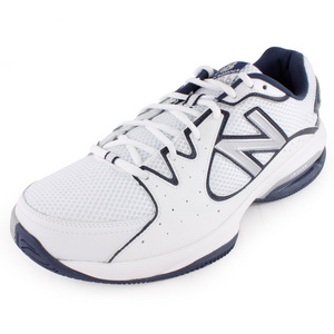 Men`s 786 D Width Tennis Shoes White and Navy
