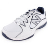 Men`s 786 2E Width Tennis Shoes White and Navy by NEW BALANCE