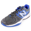 Men`s 696 2E Width Tennis Shoes Black and Blue by NEW BALANCE