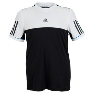 adidas BOYS RESPONSE TENNIS TEE BLACK/WHITE