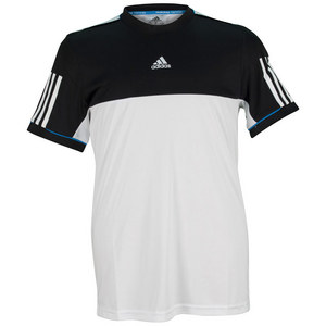 adidas BOYS RESPONSE TENNIS TEE WHITE/BLACK