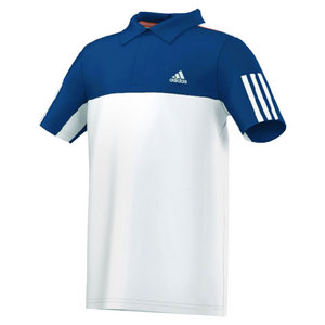 adidas BOYS RESPONSE POLO WHITE/TRIBE BLUE