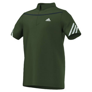 adidas BOYS ADIZERO TENNIS POLO EARTH GREEN