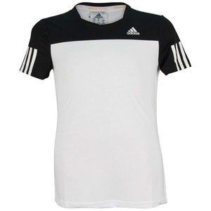 adidas GIRLS RESPONSE TEE WHITE AND BLACK