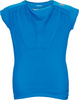 Girls` Adizero Cap Sleeve Tennis Top Solar Blue by ADIDAS