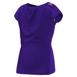 adidas GIRLS ADIZERO CAP SLEEVE TOP TRIBE PURP