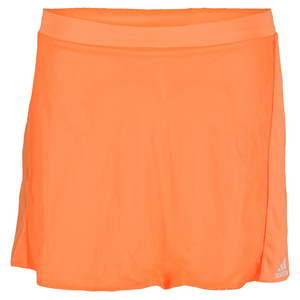 adidas GIRLS ADIZERO TENNIS SKORT GLOW ORANGE