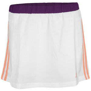 adidas GIRLS RESPONSE TENNIS SKORT WH/GL ORANGE