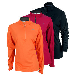NIKE WOMENS EXTENDED ELEMENT HALF ZIP RUN TOP