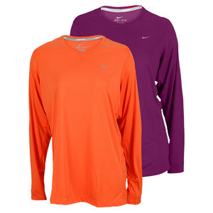 NIKE WOMENS EXT LONG SLEEVE MILER RUN TEE