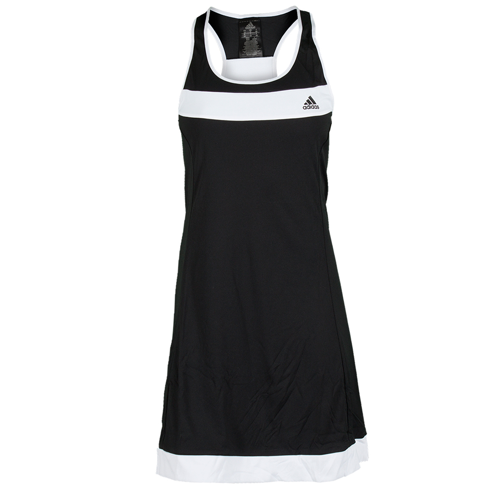 Women`s Galaxy Tennis Dress Black and White