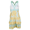 Women`s Stella McCartney Barricade Aussie Tennis Dress White and Universe Gray by ADIDAS