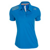 ADIDAS Women`s Clima Chill Tennis Polo Solar Blue