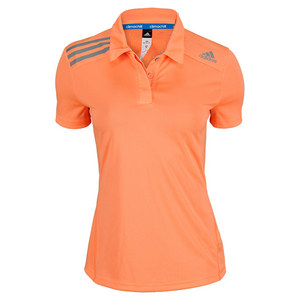 adidas WOMENS CLIMA CHILL POLO GLOW ORANGE