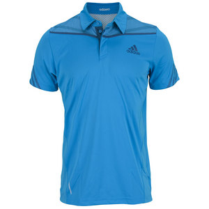 adidas MENS ADIZERO TENNIS POLO SOLAR BLUE