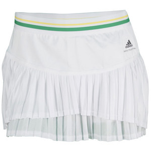 adidas WOMENS STELLA BARRICADE 11IN SKORT WHITE