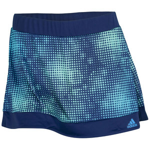 adidas WOMENS GALAXY PRINT TENNIS SKORT NT BLUE