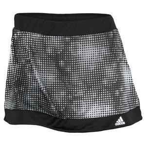 adidas WOMENS GALAXY PRINT TENNIS SKORT BK/WH