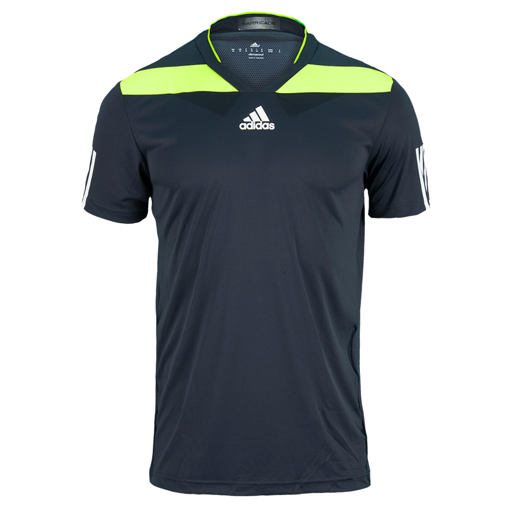 Men's Adipower Barricade Tennis Crew Tee Night Shade