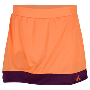 adidas WOMENS GALAXY TENNIS SKORT GLOW ORANGE