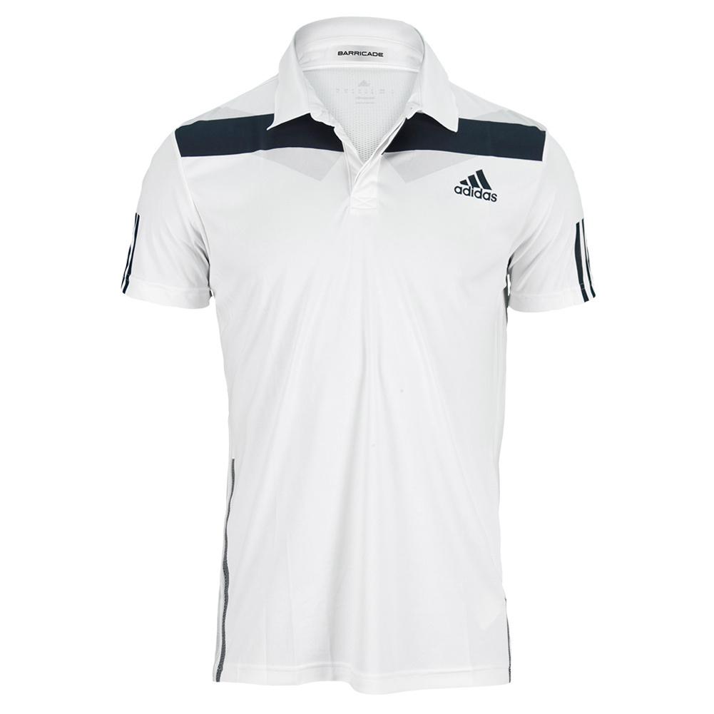 Men's Adipower Barricade Traditional Tennis Polo White